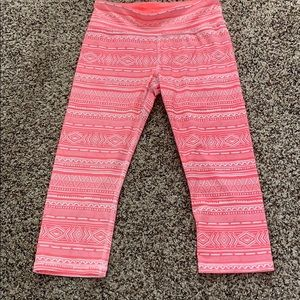 Coral patterned workout leggings